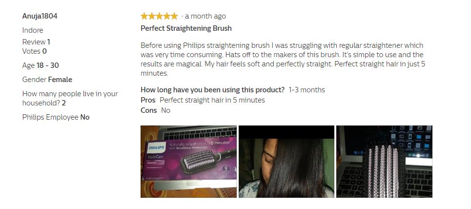 philips straightening brush reviews